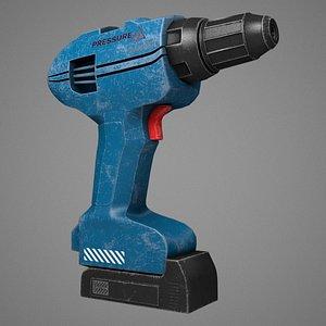 3D eletric screwdriver drill model