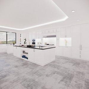 3D kitchen revit parametric model