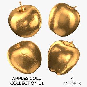 Apples Gold Collection 01 - 4 models 3D model