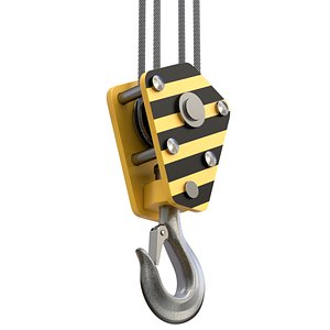 crane hook 3D