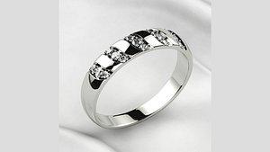 3D Wedding Gold Ring model