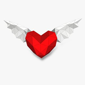 HEART WITH WINGS 3D Papercraf 3D