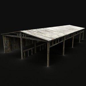medieval barn barrel 3D model