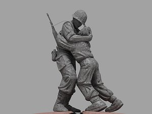 3D Korean Statue of brothers 3D