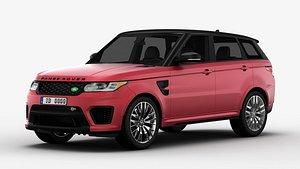 3D model Land Rover Range Rover Sport SVR 3D Model