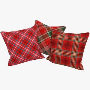 Tartan Pillows V3 3D model