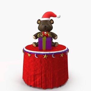 3D christmas bear gift