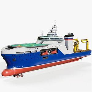 3D Multifunctional Research Vessel PBR model