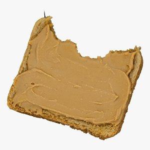 toast peanut butter 03 3D model