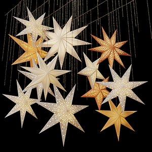 3D decorative set swedish stars model