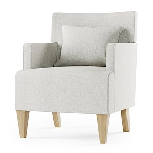 brentwood lounge chair 3D