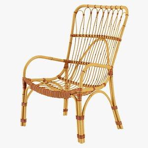 3D Rattan Lounger Chair