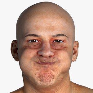 Real PBR Marcus Human Head Cheek Blow AU33 3D model