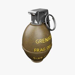3D model M26 grenade