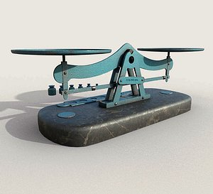 3D Old Balance Scale