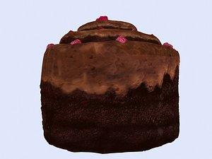 cake chocolate 3D model