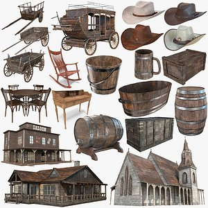 Western Collection - PBR Textures 3D model