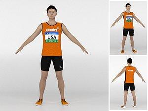 Athlete Runner 08 3D