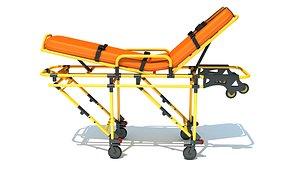 ambulance stretcher 3D model