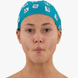 3D head human raw