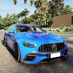 2021 Mercedes-Benz E63 AMG Coupe 3D model 3D model
