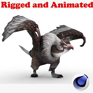 3D Condor Rigged and Animated model