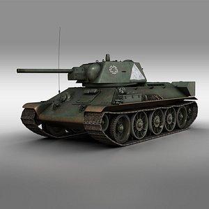 t-34 t-34-76 soviet 3D