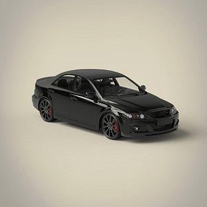 3D sedan car materials