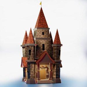 3D Game Asset Castle model