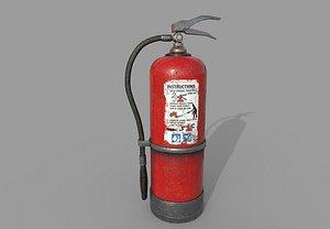 3D Old Pbr Fire Extinguisher model