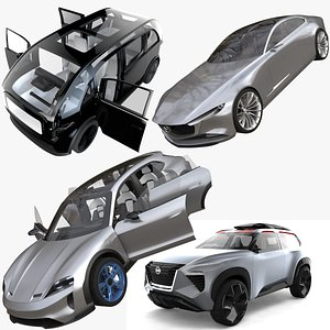 Collection of aesthetic electric cars 3D model