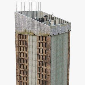 3D city street work building