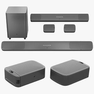 3D Soundbar JBL Bar 9.1 True Wireless Surround