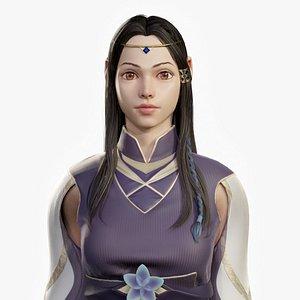 3D stylized fantasy female