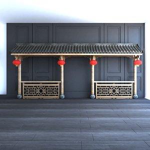 chinese lantern entrance 3D