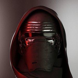 Kylo Ren StarWars Helmet 3D model