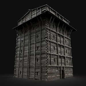 3D model medieval watchtower scout