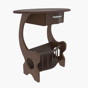 table drawer 3D model