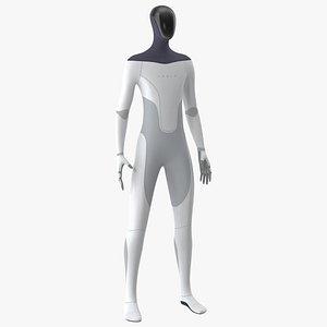 3D Tesla Bot Neutral Pose model