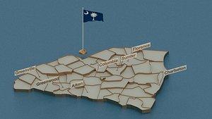 south flag 3D model