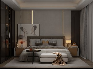 3D model Modern Style Bedroom - 542