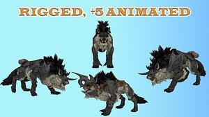 Fantasy Mounts Animals - Wolf 3D model