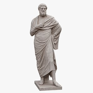 Sophocles Statue on Base 3D model