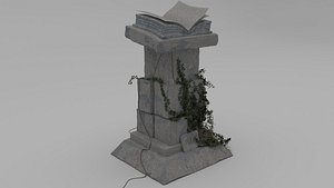 3D stilized pedestal