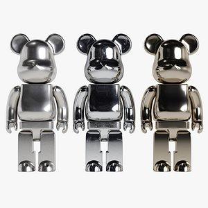 bearbrick bear metal 3D