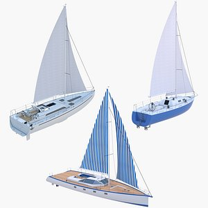 3D Sailing Yachts Collection model