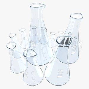 3D flask whith spout model
