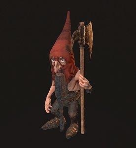 gnome axe 3D model