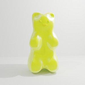 3D model marmalade candy bear