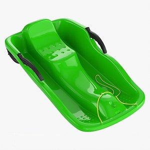 Snow sledge plastic 3D model